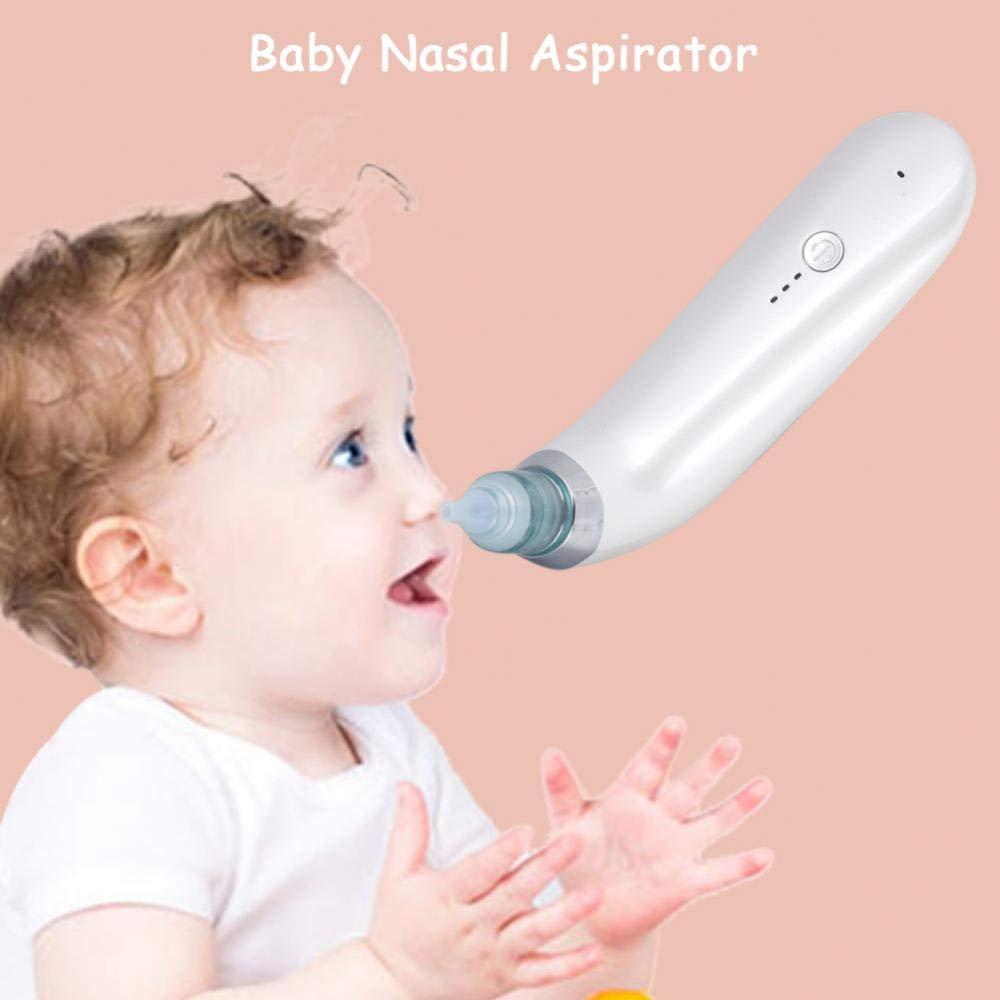 Pink Elektrischer Nasensauger Kinder Snot Sucker Nasenreiniger Baby K/örperpflege Reinigungswerkzeug mit austauschbaren D/üsen f/ür Neugeborene Kleinkind und Erwachsene