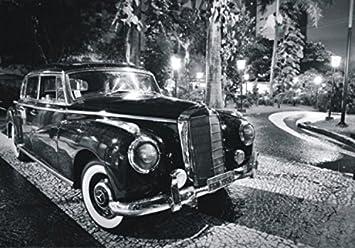 Voitures De Collection Poster Papier Peint Mercedes Noire 4