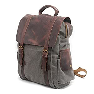 Christmas Vintage Casual School Backpack Canvas and Leather ...
