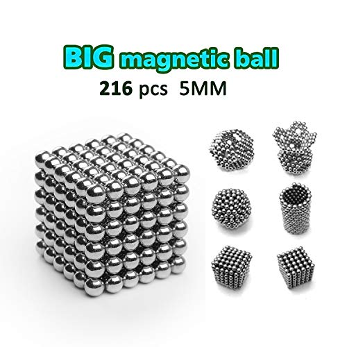 (DOTSOG 2019 Upgraded Magnetic Ball, 5MM 216 Pieces Sculpture Building Blocks Toys for Intelligence DIY Educational Toys& Stress Relief for Adults)
