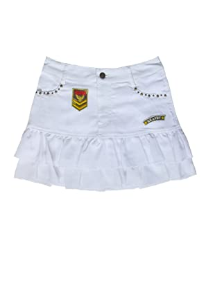 f4df11bbd82a Sexy Army A-line Ruffled Mini-skirt in White S at Amazon Women's Clothing  store:
