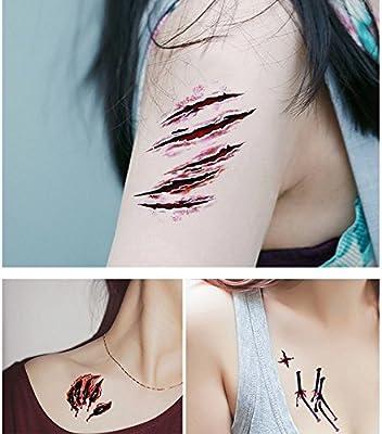 Tatuajes temporaires Halloween Tattoos éphémères personalizado 12 ...