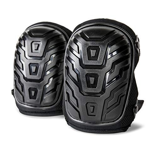 Pro Gel Knee Pads by Rough Work Gear - Professional Heavy Duty Padding with Adjustable Fit for Men and Women - Comfortable and Protective