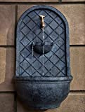 The Milano - Outdoor Wall Fountain - Slate Grey Finish - Water Feature for Garden, Patio and Landscape Enhancement