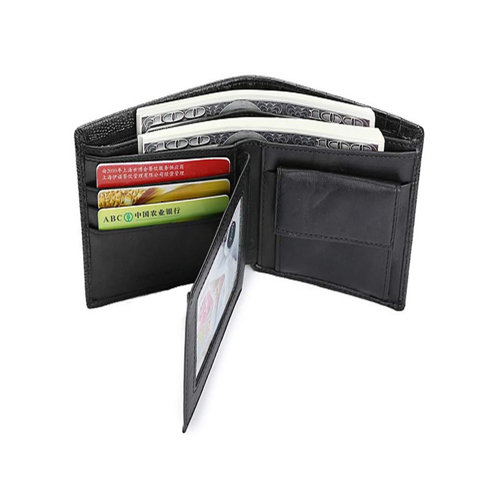 Sanyaleishen Bifold Wallet Men Leather Credit//ID Card Holder Billfold Purse Wallet