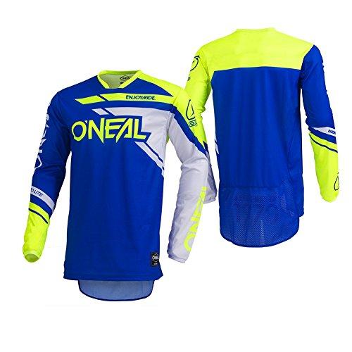 O'Neal Men's Hardwear Rizer Jersey (Blue/Yellow, Medium) -