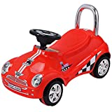 Costzon Kids Ride On Push Car, Toddler Scooter with Sound & Light Christmas Gift (Red)