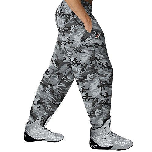 Workout Baggy Pants - Otomix Men's Grey Camouflage Baggy Workout Pants (Medium)