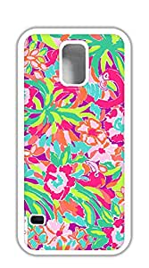 Custom made Case/Cover/ case for samsung galaxy s5 for girls - lilly pulitzer safflower