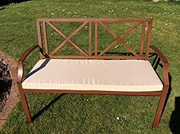 Terracotta 3 Seater Bench Cushion For a Metal 3 Seater Garden Bench Or a Wooden Garden Bench 143x48x6cm Garden Furniture Cushion