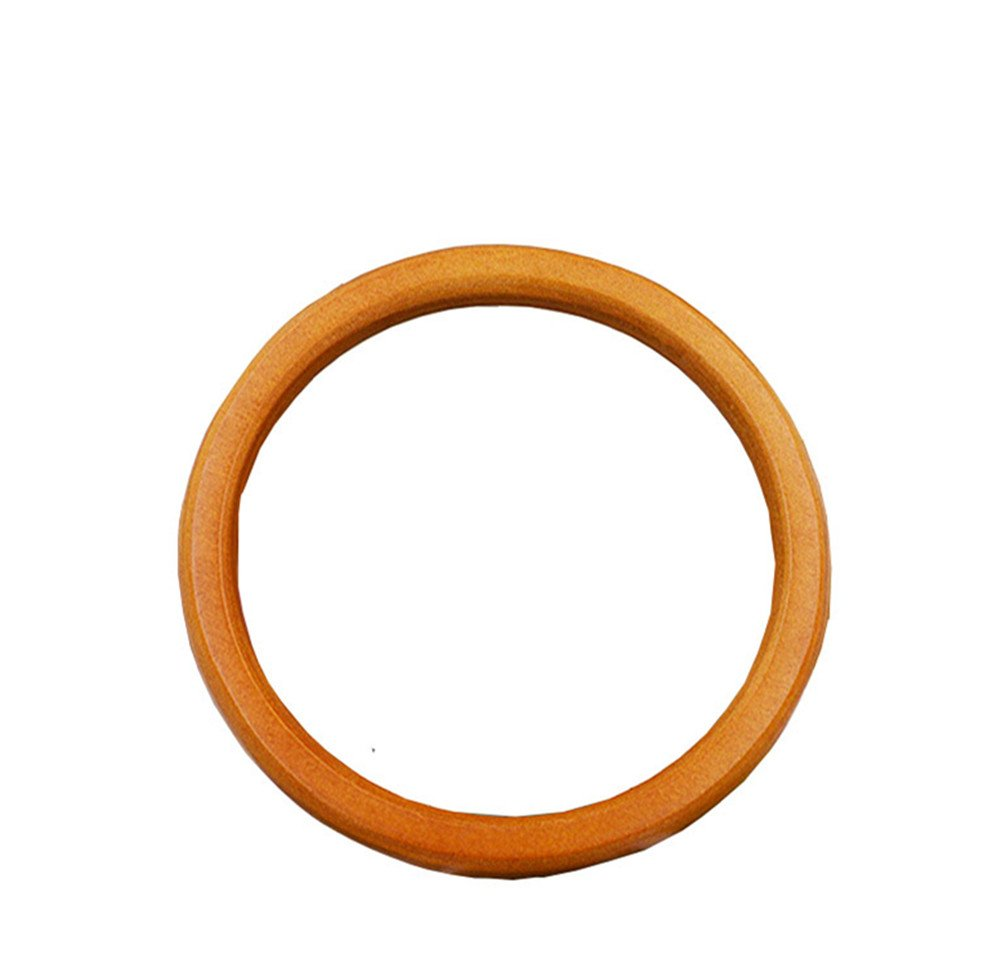Black Ownstyle Circular Wood Purse Handle Purse Making Supplies 2 Pcs 5 1//2 Inch