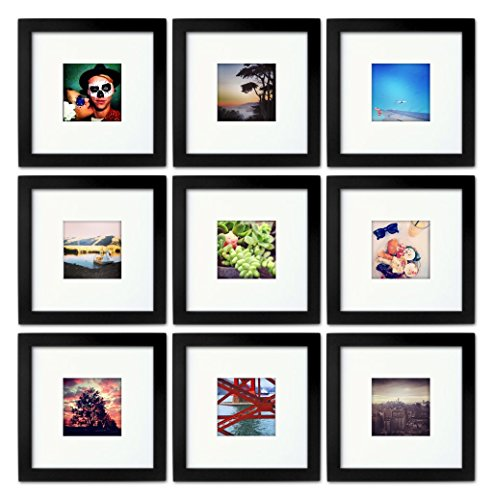 Amazoncom 9 Set Tiny Mighty Frames Wood Square Instagram