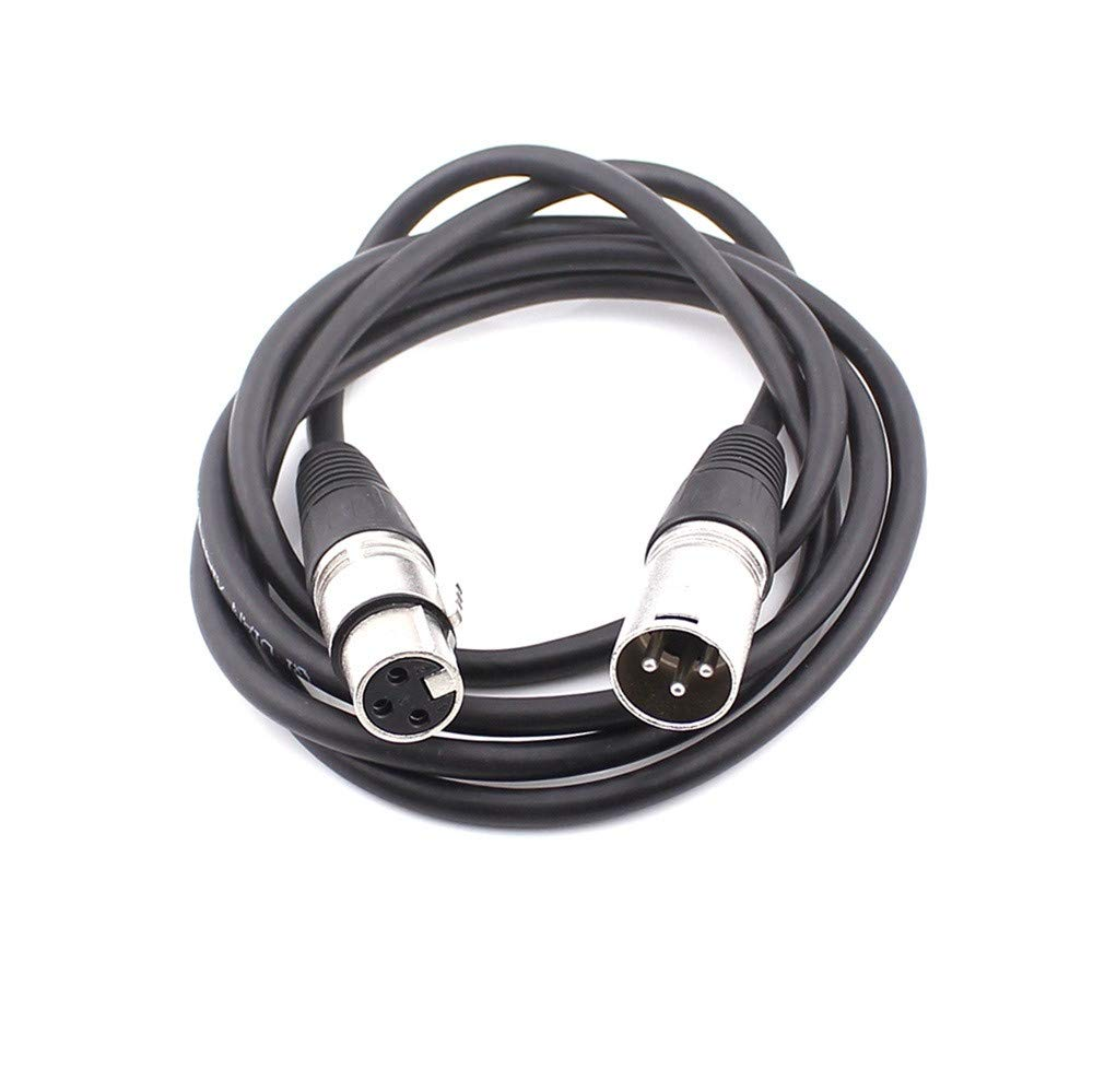 YRD TECH Microphone Cable,Cable Microphone Lead Male to Female Line Stereo Audio Adapter Plugs (Black A, 0.3M)
