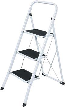 Escala de acero, con 3 peldaños de escalera para ahorrar espacio: Amazon.es: Bricolaje y herramientas