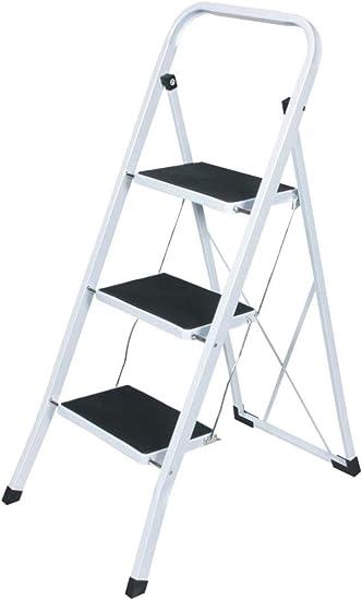 Escala de acero, con 3 peldaños de escalera para ahorrar espacio ...