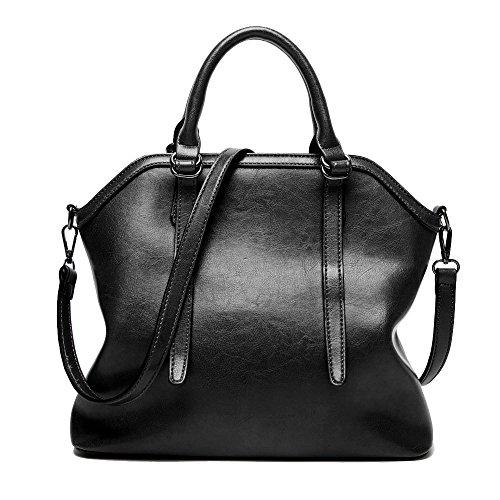La Rétro à Main Grande Simple Dos à De Bandoulière Capacité Mode Des Black Sac Sac à Sac Shopping Sac Femmes Bandoulière à zH6yqwZpA4
