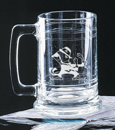 Notre Dame Fighting Irish Leprechaun 15 Oz Deep Etched Colonial Beer Tankard Campus Crystal