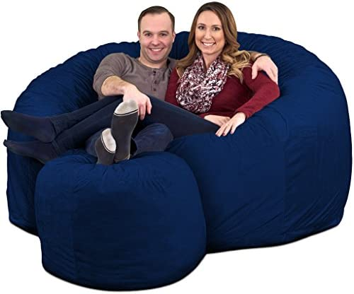 Reviewed: ULTIMATE SACK 6000 Bean Bag Chair w/Footstool: Giant Foam-Filled Furniture