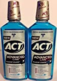 Act Advanced Care Antigingivitis & Antiplaque Mouthwash - Plaque Guard - Frosted Mint Flavor - Net Wt. 18 FL OZ (532 mL) Each - Pack of 2 by ACT