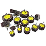 15pc Flap Sanding Wheels Kit for Drill, Mounted on 1/4-inch Shank
