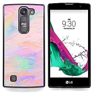 """For LG G4c Curve H522Y ( G4 MINI , NOT FOR LG G4 ) Case , Pintura al óleo del arte melocotón rosado púrpura del artista"""" - Diseño Patrón Teléfono Caso Cubierta Case Bumper Duro Protección Case Cover Fu"""