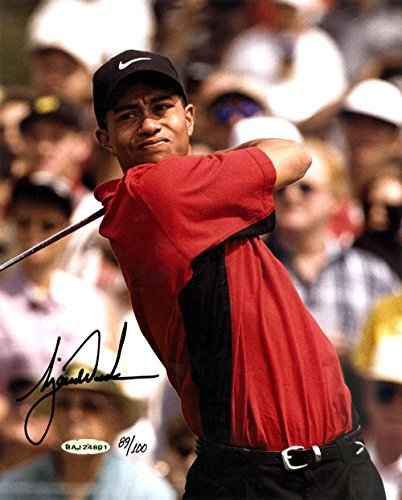Tiger Woods Autographed Picture - 8x10 1997 Masters LE #89 100#BAJ24801 - Upper Deck Certified - Autographed Golf Photos (Woods Tiger Autographed Masters)