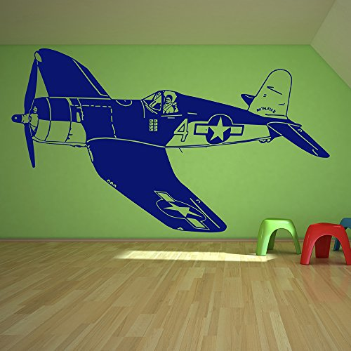 Colour Jet Nut - azutura World War 2 Plane Wall Sticker Fighter Jet Wall Decal Boys Bedroom Home Decor available in 5 Sizes and 25 Colours X-Small Nut Brown