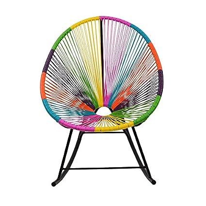 Ordinaire Design Tree Home Acapulco Indoor/Outdoor Rocking Chair, Multi Color
