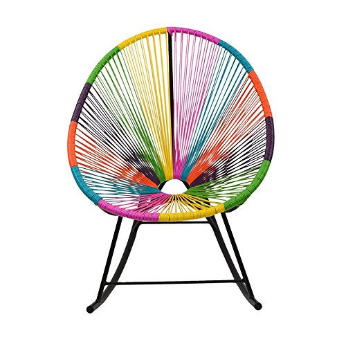 Design Tree Home Acapulco Indoor/Outdoor Rocking Chair, Multi-Color