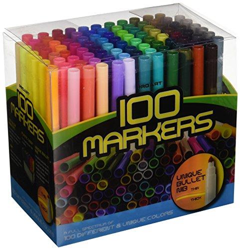 Pro-Art Marker Set 100/Pkg by Parrot