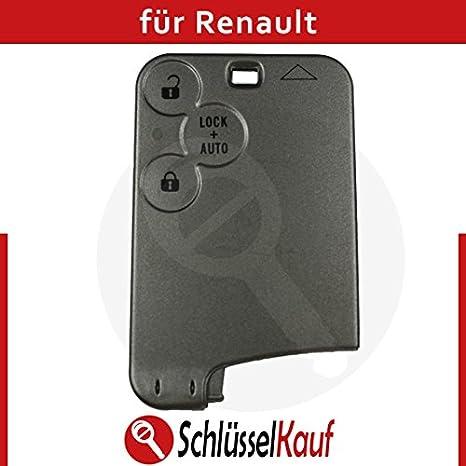 Renault Llave de Coche Llave Tarjeta Carcasa Laguna 2 Espace 4 Key + 3 x pulsador