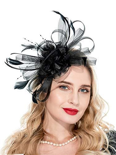 (Fascinators Hat for Women Tea Party Hats Wedding Headband Womens Dress)