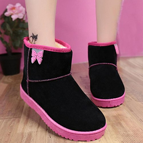 Pantofola Da Donna Amylys Su Stivaletti Pantofole Stivaletti Invernali Indoor Con Cinturini Alla Caviglia Neri