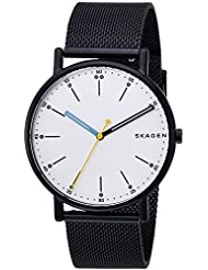 Skagen Mens Signatur Quartz Stainless Steel Casual Watch, Color:Blue (Model: SKW6376)