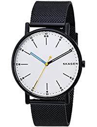 Men's 'Signatur' Quartz Stainless Steel Casual Watch, Color:Blue (Model: SKW6376)