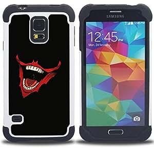 - Laughing Joker Mouth - - Doble capa caja de la armadura Defender FOR Samsung Galaxy S5 I9600 G9009 G9008V RetroCandy