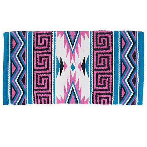 Tough 1 Mayan Navajo Wool Saddle Blanket Pink