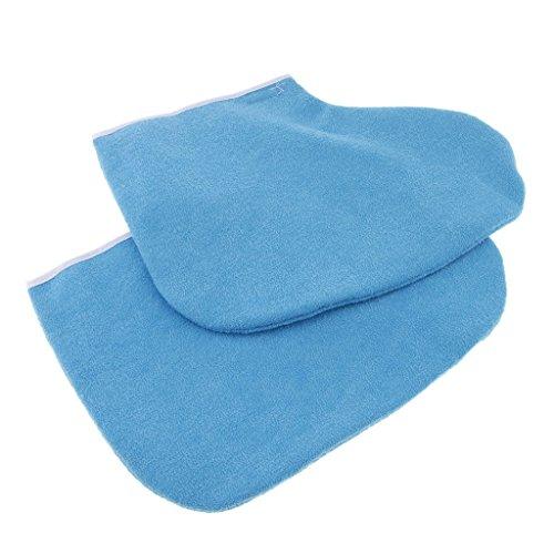 NON Baoblaze 1 Par de Parafina Cera Pies de Baño de SPA Calcetines Zapatos Pedicura Accesorios para Cuidado de Pies, Azul