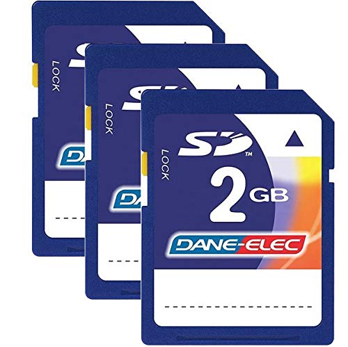 Dane Elec BU-SD-2GBX3-C 2 GB 3 Pack Bundle Secure Digital Card