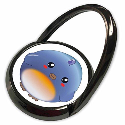 3dRose InspirationzStore Cute Animals - Cute bluebird - kawaii blue bird cartoon - sweet adorable round birdy anime style - kids children - Phone Ring -