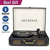Turntable record player classic suitcase record vinyl turntable player LP,Bluetooth,USB/SD play,built-in speakers,unique design portable turntable player