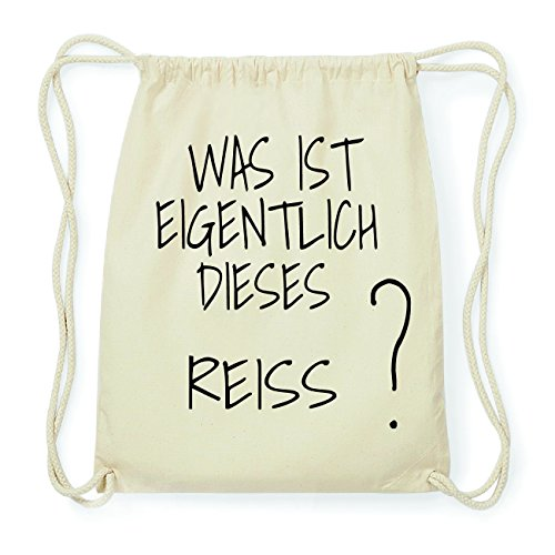 JOllify REISS Hipster Turnbeutel Tasche Rucksack aus Baumwolle - Farbe: natur Design: Was ist eigentlich oEeOByqb