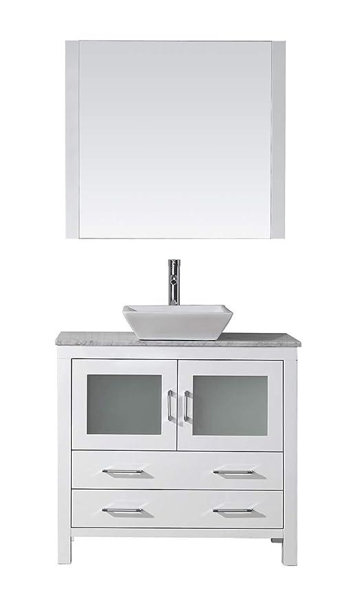 Virtu Usa Dior 32 Inch Single Sink Bathroom Vanity Set In White W