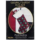 MCG Textiles Plaid Stocking Latch Hook Kit