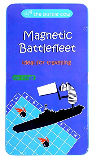 (The Purple Cow- Battlefleet Game- Magnetic Travel Game for Kids and Adults. Classic Strategy Game for Thinking)