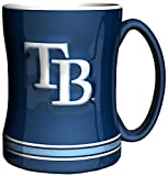 MLB Tampa Bay Devil Rays 14-Ounce Sculpted Relief Mug