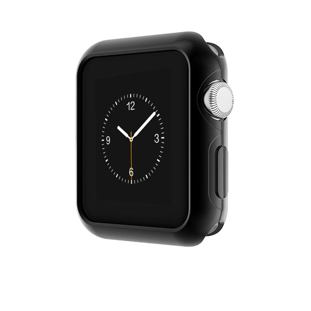 Apple Watch Series 2 Case, Mangix [Vault Series] Flexible TPU Slim Body Shield [Stealth Armor] for Apple Watch Series 2 (Jet Black,42mm)