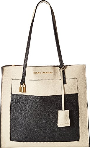 Marc Jacobs Women's The Grind Colorblocked Tote, Cloud White Multi, One Size - Marc Jacobs White Bag