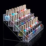 4/5/6 Tier Clear Acrylic Nail Polish Cosmetics Display Stand Rack Organiser (5 Tier)