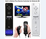 Built in Motion Plus Remote and Nunchuck Controller+Case for Nintendo Wii&Wii U-Black